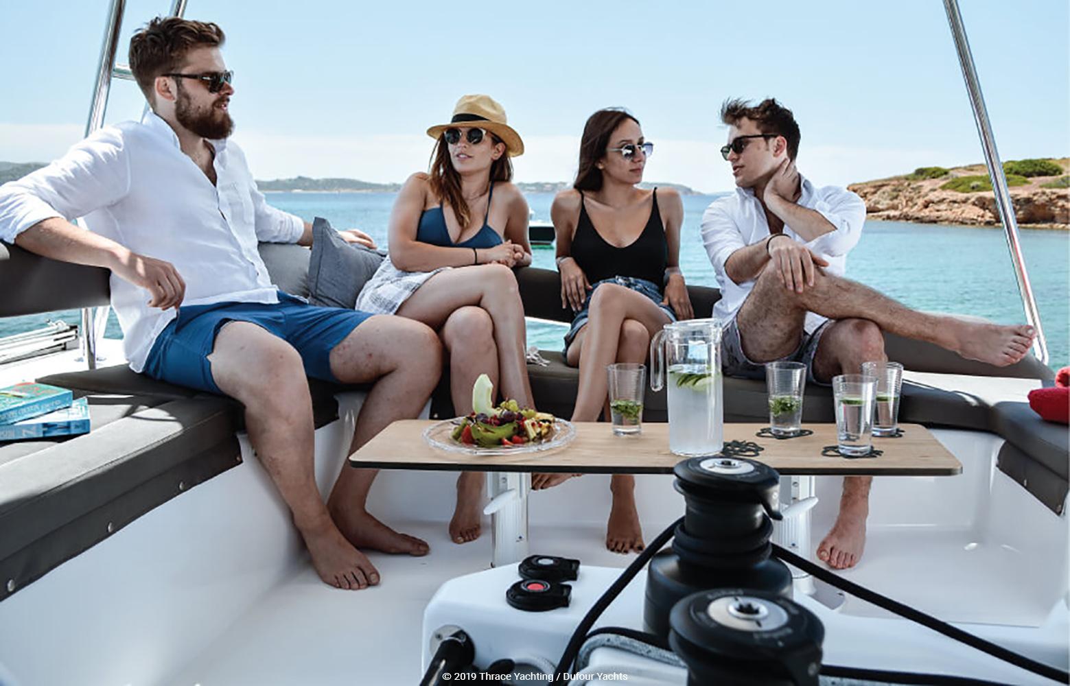 Dufour Catamaran 48  relaxation 2